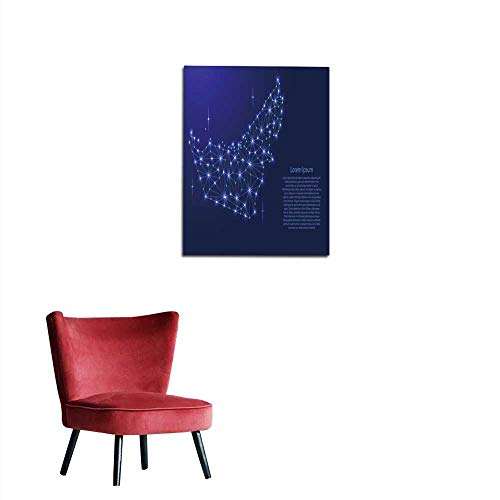 longbuyer Corridor/Indoor/Living Room United Arab Emirates map of Polygonal Mosaic Lines Network Rays and Space Stars of Vector Illustration Mural 20