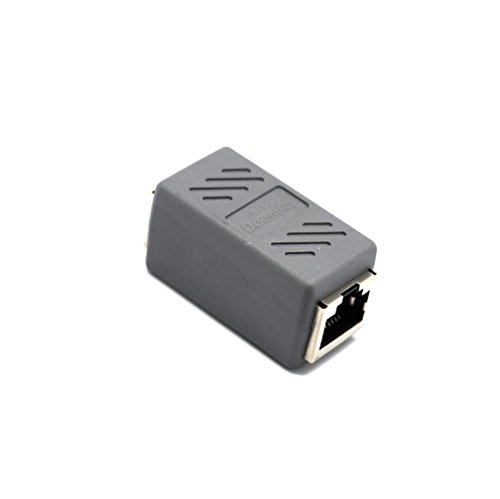 Mchoice RJ45 Female To Female Network Ethernet lan Connector Adapter coupler Extender (Grey) ()
