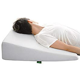 Wedge Pillow for Sleeping – 7.5 Inch Memory Foam Bed Wedge for Sleeping, Reading, Post Surgery & Leg Elevation…