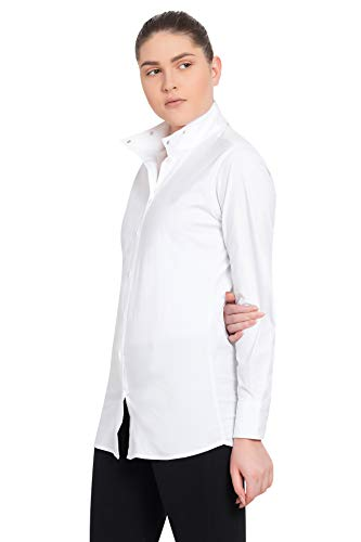 TuffRider Women's Starter Long Sleeve Show Shirt, White, 32