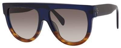 Celine Shadow CL 41026 QLT Blue Havana Flatop Plastic - Celine Glasses Shadow