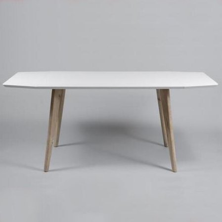 2xhome - Dining Table Drop Leaf Table up to 70 inches White Top With Natural Wood Leg