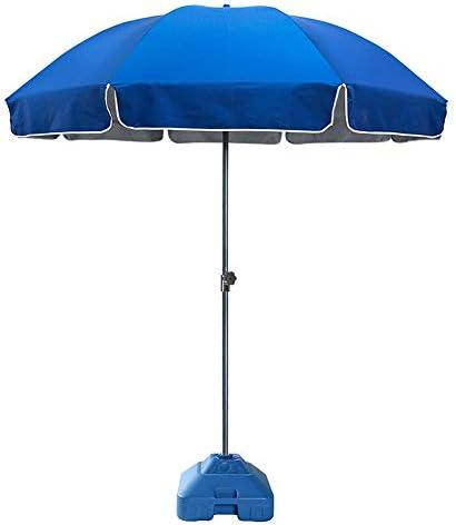 ZJM Sonnenschirm 8.5Feet Patio Umbrella, Pavillon/Small Bistro Windproof Offset Umbrella mit 1,5 Kg Wassergefüllter Regenschirmbasis, Leicht Zusammenzubauen
