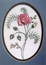 A Rose For My Mother - DK Designs Brazilian Embroidery pattern & fabric #3802
