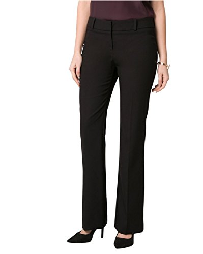 LE CHÂTEAU Women's Stretch Gabardine Slight Flare Leg (Wide Leg Gabardine Pant)