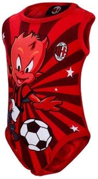 AC Milan Body Neonato Smanicato in Cotone Abbigliamento Ufficiale Art M001