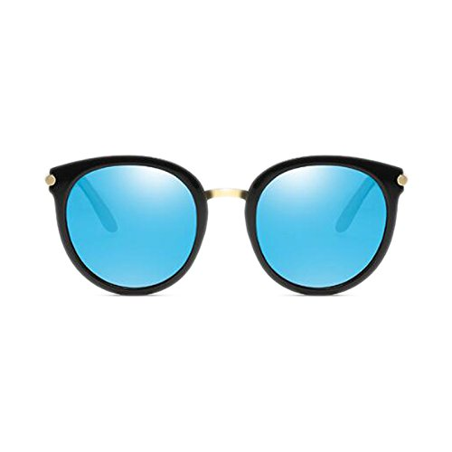 de frame Outdoor Style coreanas Harajuku polarizadas HD ice Driving sol Color WLHW blue UVB Black mercury Visual Long Face Retro Gafas Black UVA frame Antideslumbrante dqpBad