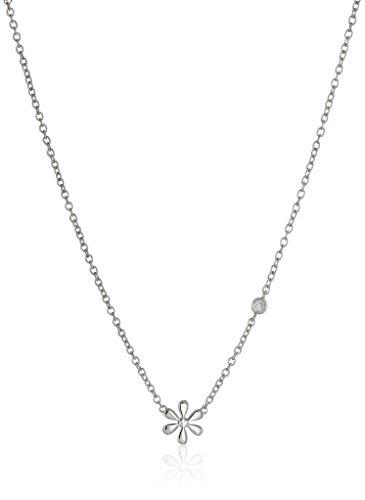 Syd by SE Daisy Necklace with Diamond Bezel