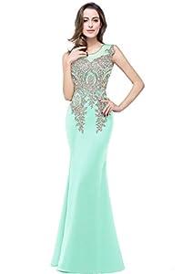 MisShow Elegant Long Evening Dresses For Women Formal Lace Bridesmaid Dress,8
