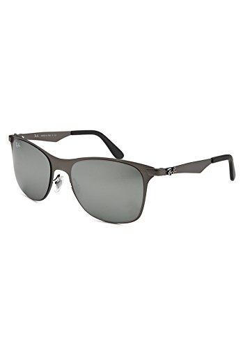 403e60d054b Image Unavailable. Image not available for. Color  Ray-Ban RB3521-029-88  Men s Wayfarer Flat Metal Gunmetal Sunglasses
