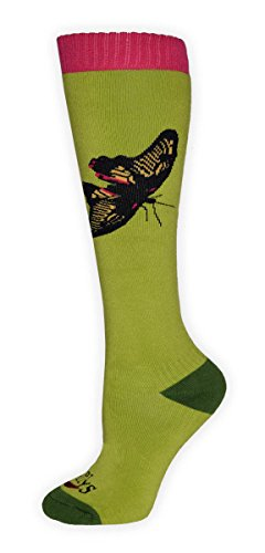 Hot Chillys HC2616P Women's Paradise Mid Volume Sock, Paradise/Green - M