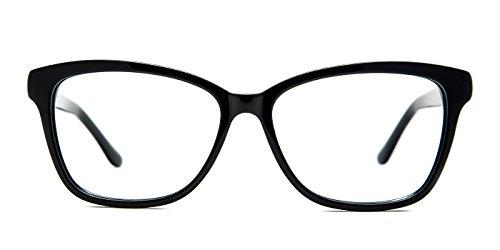 TIJN Acetate Translucent Front Cateye Eyeglasses Floral Arm for - Frames Eyeglass Translucent