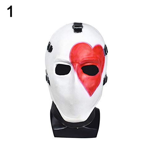 Maserfaliw Halloween Masks Poker Face Mask Halloween 2019 Mask for Adults Party Decoration Props Heart White