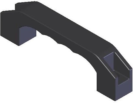 5//16 CBore Rohde DUH-65 Reinforced Nylon Rectangular Pull Handle 2 3//64 x 7 41//64 Long