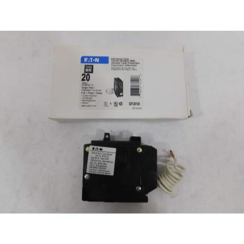 Eaton Corporation GFCB120CS Single Pole Ground Fault Interrupter Circuit Breaker, 120V, ()