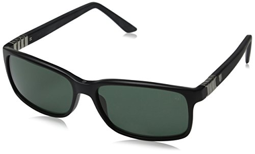 Tag Heuer Legend 9381 301 Square Sunglasses, Black, 58 mm