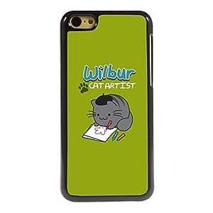 HP Wilbur Cat Artist Design Aluminum Hard Case for iPhone 5C