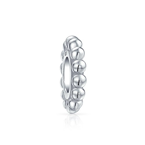 - Caviar Bead Cable Very Thin Spacer Charm Bead For Women For Teen 925 Sterling Silver Fits European Bracelet