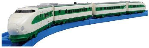 PLARAIL Advance - AS-17 Series 200 Shinkansen Bullet Train (with Coupling for Addition) (4-Car Set) (Tomica PlaRail Model Train) by Takara Tomy