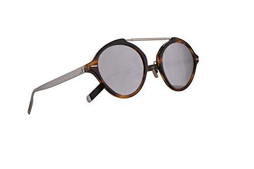 Christian Dior Homme DiorSystem Sunglasses Dark Havana w/Silver Mirror Lens 49mm 086DC Dior System Dior System/S DiorSystem/S