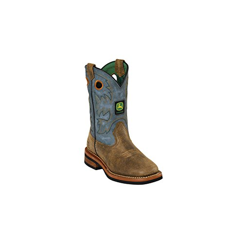 John Deere Johnny Popper JD2317 Kid's Tan Leather Boots 9 M