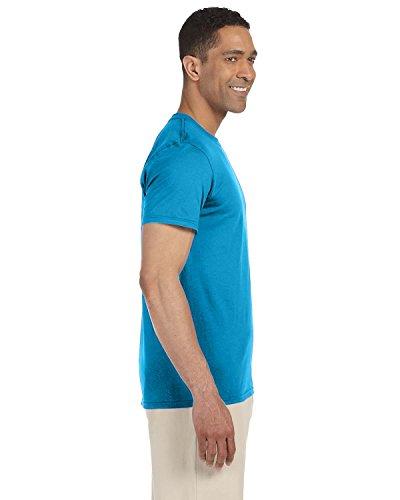 Saphir À T shirt Manches Pour Gildan style™ Courtes Soft Homme zP1f6gUq1