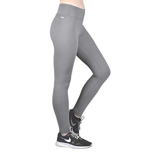 Dynamic Athletica Compression Workout Leggings - Workout Clothes and Yoga Pants (Medium, Grey)