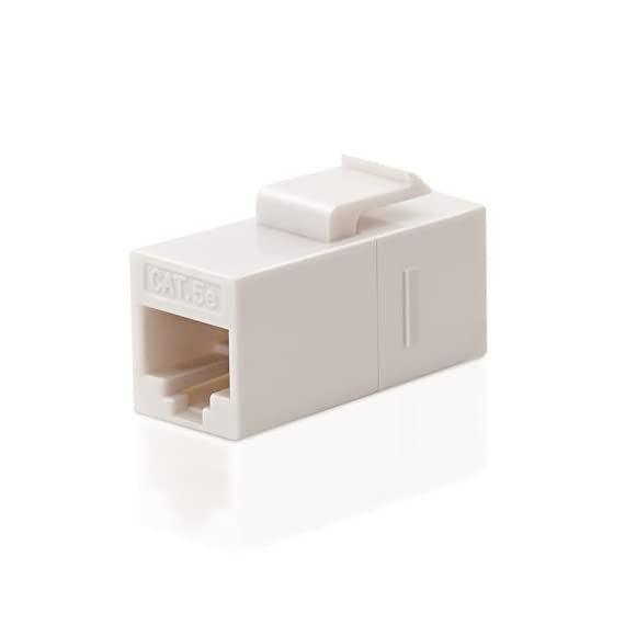 Vce cat5e rj45 keystone coupler insert of 5 pack, cat5 inline coupler female to female utp cat5e coupler keystone… 4 cat5e keystone coupler fit for rj45 cat5e/cat5 network cable, which is perfect for building custom length network cables cat5 utp female to female straight coupler, allows you to extend the length of two cat5 or cat5e cables in a easy and simple way cat5 female to female coupler fits all standard keystone wall plates 、patch panels and surface mount box.