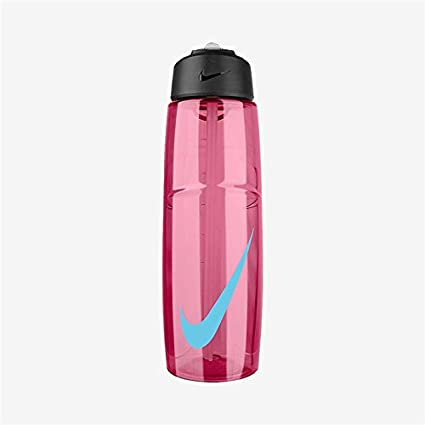 bfbf8dddd5 Nike T1 Flow Swoosh Water Bottle (32oz, Vivid Pink/Gamma Blue)