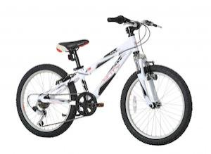 Monty KY5 - Bicicleta de montaña para niño, color blanco, 10