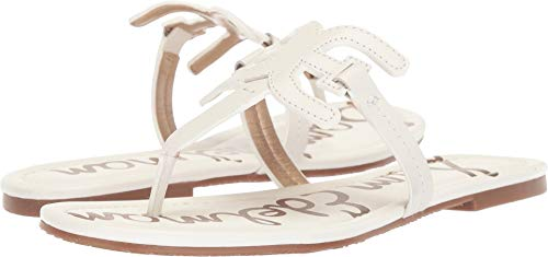 Sam Edelman Women's Carter Bright White Vaquero Saddle Leather 7 W - White Leather Textured