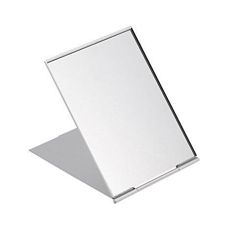BinaryABC Travel Mirror,Portable Folding Mirror,Makeup Mirror,Pocket Compact Mirror,Shower Shaving Mirror