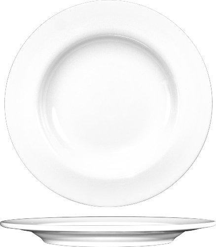 ITI BL-6 Bristol Porcelain 6-1/4-Inch Fine Porcelain Plate, Bright White, 36-Piece