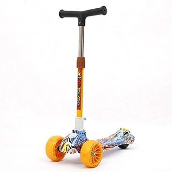 Dlkjsikogklsdgs Scooter Multifuncional para niños con patineta portátil de Tres Ruedas Scooter de Viaje para niños.: Amazon.es: Juguetes y juegos