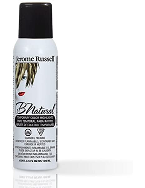 Amazon Com Jerome Russell B Natural True Black Temporary Hair Color Spray 3 5oz Hair Highlighting Products Beauty