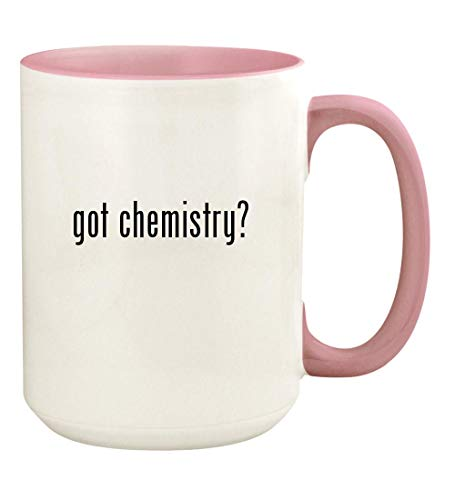got chemistry? - 15oz Ceramic Colored Handle and Inside Coffee Mug Cup, Pink