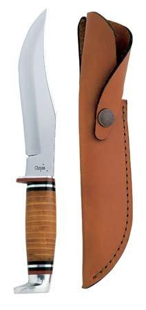 Case Large Skinner Leather Hunter Knife