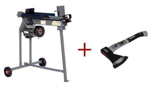 STAHLMANN® Holzspalter 7 Tonnen / 520mm liegend AKTION inkl. Spaltkreuz + Tisch + hochwertige Axt !!! mit stufenlos verstellbaren Spaltweg bis max. 520 mm! TÜV/CE zertifiziert!