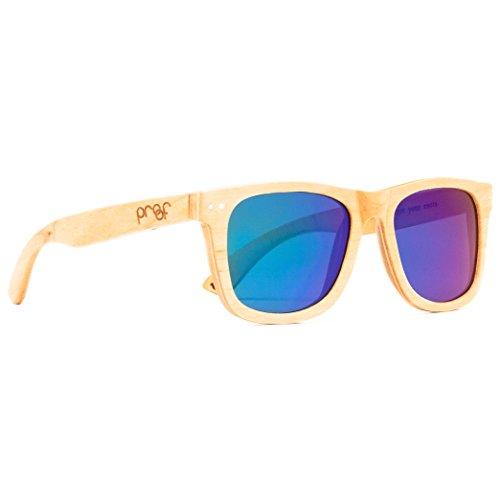 Proof Ontario Wood - Handcrafted Wooden Wayfarer Sunglasses, Maple, Mirrored - Glasses Proof