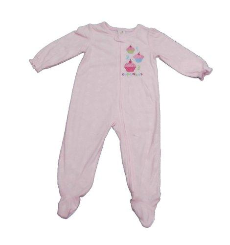 absorba Toddler Girls Blanket Sleeper Cupcakes (4T)