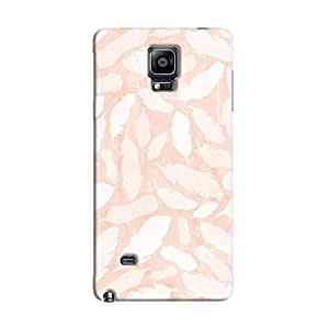Cover It Up - Feather Pink Print Galaxy Note 4 Hard Case