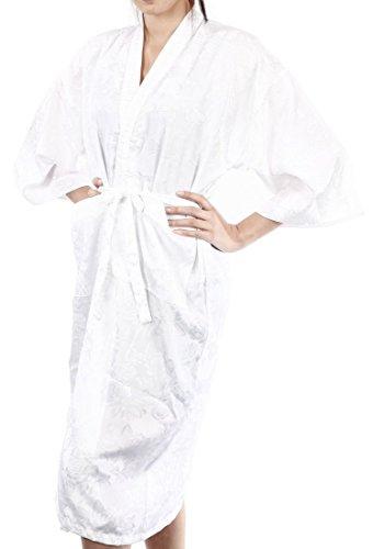 Lofbaz Mujer Bata de baño que cubre como una toalla, cómoda Design #16 Blanco