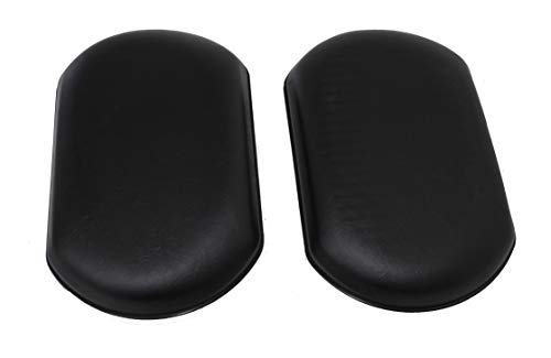 New Solutions CP011P 10 x 6 x 3 in. Calf Pads Universal Fit for Wheelchair44; Black Vinyl - Set of 2