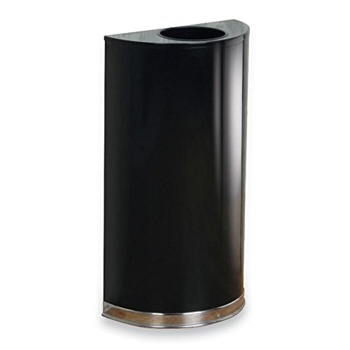 United Receptacle Inc . Round Wastebasket - RCPSO1220PLBK - United Receptacle SO1220PL Open Top Indoor Waste Receptacle
