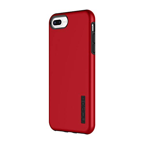 iPhone 8 Plus Case, iPhone 7 Plus Case, Incipio Premium DualPro Shockproof Hard Shell Hybrid Rugged Dual Layer Protective Outer Shell Shock and Impact Absorption Cover (5.5 Inch) - Iridescent Red (Metallic Red Iphone 6 Plus Case)