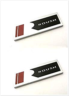Yokiio FM-2R Set of 2 Modified Metal Mustang Silver Black R ROUSH Side