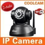 NIP 02BW 0.3MP Nightvision IP Camera with Wirelles Network Web Server Cellphone Control Function Black