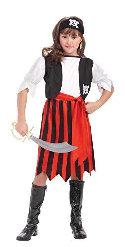 Child Pirate Lass Swashbuckler Buccaneer Costume ()