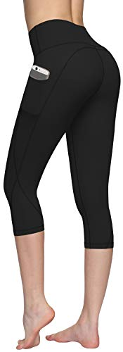 HKJIEVSHOP High Waist Yoga Pants, Pocket Yoga Pants Tummy Control Workout Pants 4 Way Stretch Pocket Leggings