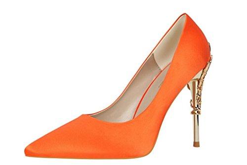 Orange Tacco Raso Tacco Donna Da ROAD Donna LUCKY A Donna EU40 Corte Scarpe In Tacchi A Bambina Punta Classiche Sandalo A Scarpe Spillo Spillo qSBwWpx0wH